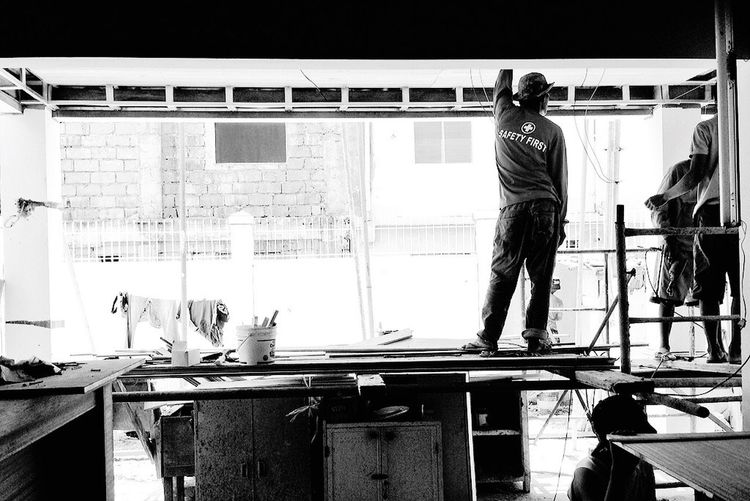 Safety first 👍🏻 Taking Photos Construction Site Project Architecture Black And White Light And Shadow Shadow Monochrome Eyeem Philippines