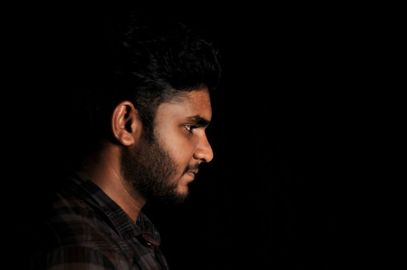 Indoor Dark Man Face EyeEm Selects Black Background Portrait Beard Headshot Studio Shot Concentration Close-up