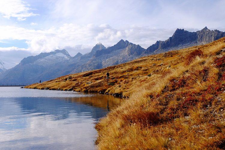 Mountain Lake Beauty In Nature Mountain Range Landscape Scenics Switzerland Grimselpass