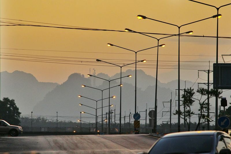 Spotted In Thailand Crossing The Road Street Light Lamp Post Dawn Near Krabi Showcase April The City Light Colour Your Horizn