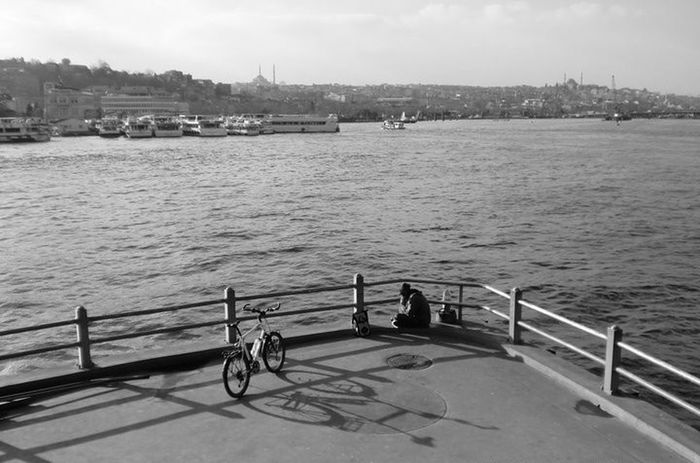 Taking Rest Bicycle Istanbul Turkey Istanbul City Seaside Sea Hi! Check This Out