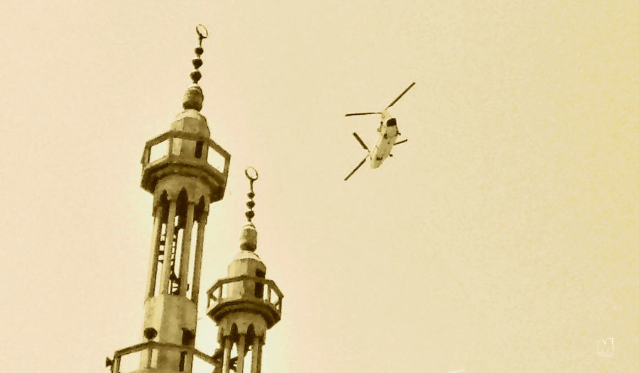 Architecture Building Exterior Built Structure Day Flying Heliocopter Mosque No People Outdoors Sky