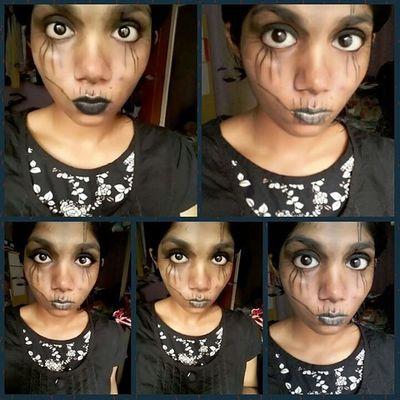 Trick or treat.... Halloweenmakeup 🎃Blacklove👄