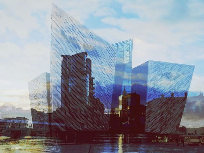 Photo play with Belfast Images Angle Future Focus Lighting Soft Gaze Riverside Reflection Skyline Perspective Belfast