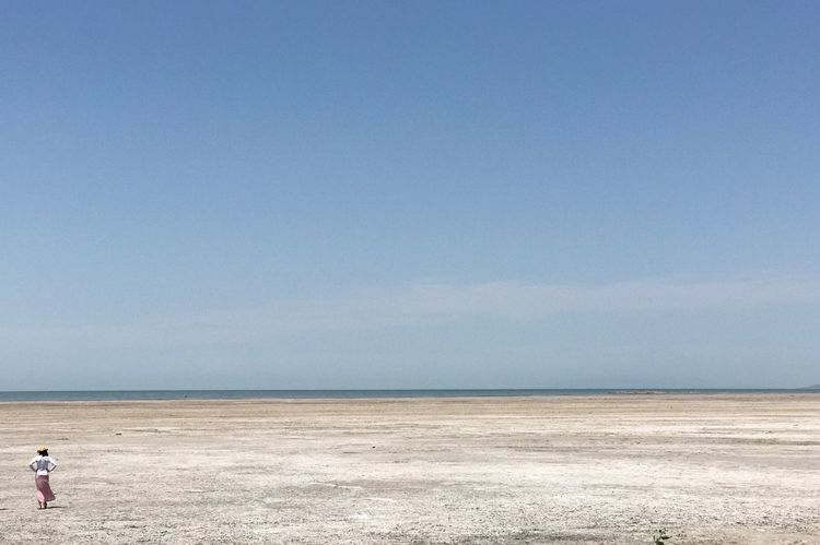 Water Beach Lake Great Salt Lake Shoreline Great Salt Lake Sand Salt Horizon Over Water Woman Travel Horizontal Sky Horizon