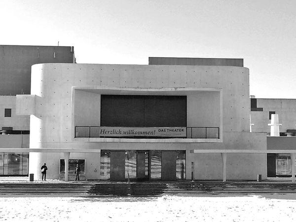 Darmstadt Architecture Monochrome Staatstheater Snow ❄ Wintertime Winter Wonderland Blackandwhite Photography
