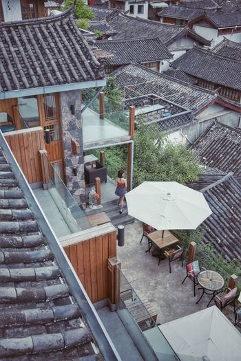古镇 Architecture Built Structure High Angle View Day Building Exterior Umbrella EyeEmNewHere