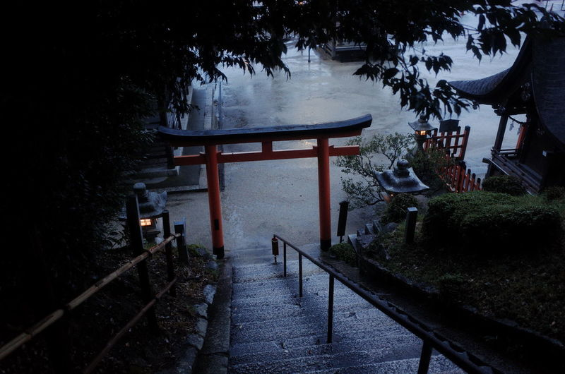 Place Of Worship Architecture Beauty In Nature Building Exterior Built Structure Cold Temperature No People Outdoors Railing Staircase Steps Steps And Staircases Tourism Destination Travel Destinations Outdoors Winter 滋賀県 白髭神社 白鬚神社