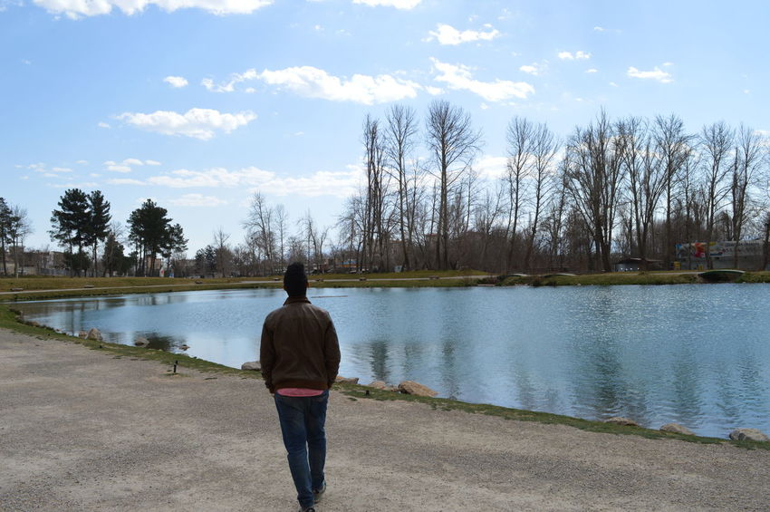 Beauty In Nature Calm Casual Clothing Cloud Cloud - Sky Day Growth Idyllic Kermanshah Lake Lakeshore Leisure Activity Lifestyles Nature Non-urban Scene Outdoors Rear View Remote Scenics Sky Tranquil Scene Tranquility Tree Water