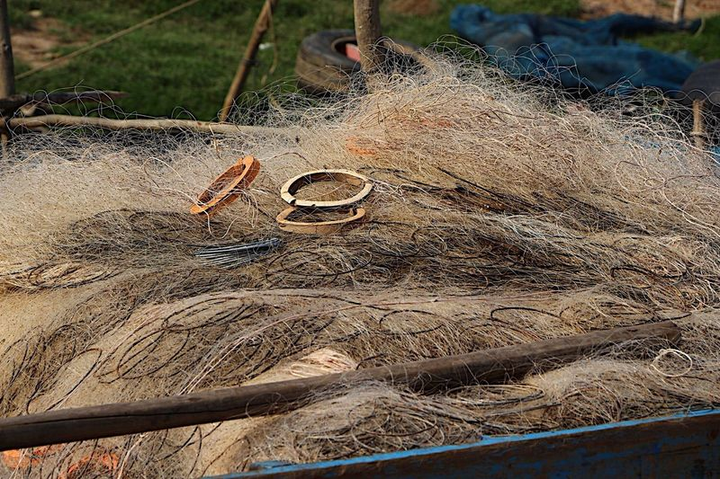 How does this not look completely and utterly tangled??? Tonlesap Cambodia Pattern TangledFX Fishing Net Taking Photos The Purist (no Edit, No Filter) Ladyphotographerofthemonth Eye4photography  Fishing Boat Detail EyeEm Gallery Canon Travel Photography Floating On Water Fishing Nets Learn & Shoot: Simplicity Minimalism No People People Of The Oceans