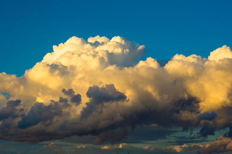Just evening sunset clouds Backgrounds Beauty In Nature Blue Cloud - Sky Cloudscape Dramatic Sky Idyllic Low Angle View Meteorology Nature No People Outdoors Scenics - Nature Sky Sunlight Sunset Tranquil Scene Tranquility