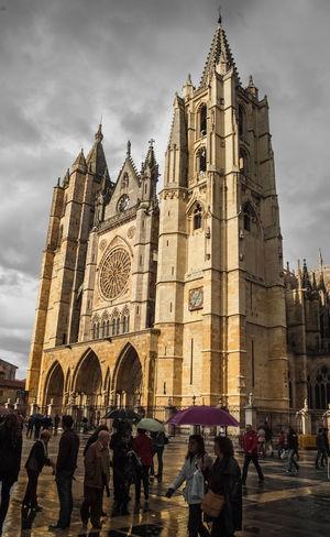 Catedral de León. Castilla y León. España. Spirituality Religion LeonEsp  Arquitectura Catedral Gotico Churches Arquitecture España Arquitecture Gotic Architecture Architecture Iglesias Building Exterior