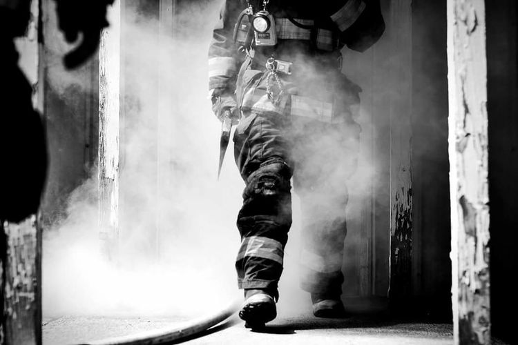 Its what everyone wants to do, but not always what happens. Walk out safe. Stay safe brothers and sisters in all forms of energancy response. Firefighter Service Responsibility Pride Honor Commitment Teamwork Sacrafice  Always Ready No Days Off The Calling Smoke - Physical Structure Smoke EyeEm EyeEm Best Shots - Black + White