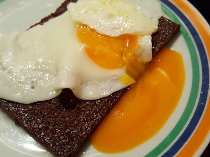 Breakfast Food Foodporn Fried Egg Egg Sunny Side Up Orange Color Orange Bread & Egg Fried Egg On Bread