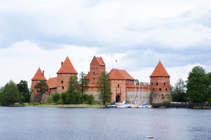 Architecture Cat Cloud - Sky Day Lithuania No People Outdoors Sky Trakai Trakai Castle Travel Water Waterfront