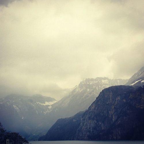 Swiss Alps Uri Mountains Lake View