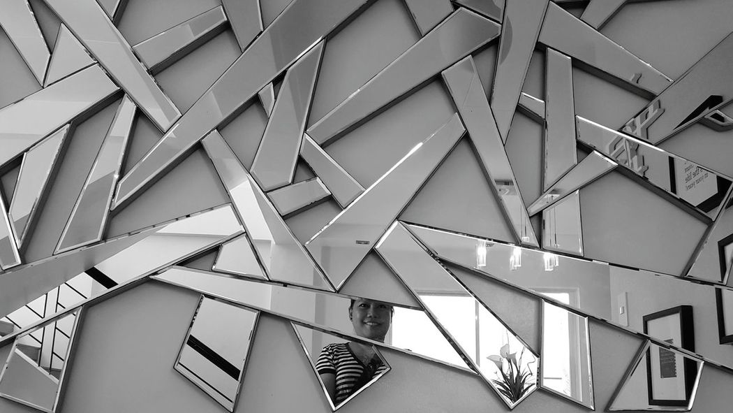 a broken reflections No People Architecture Indoors  Close-up Day Blackandwhite Photography Black And White Mirrorselfie Mirror Selfie Broken Glass Broken Mirror Interior Photography
