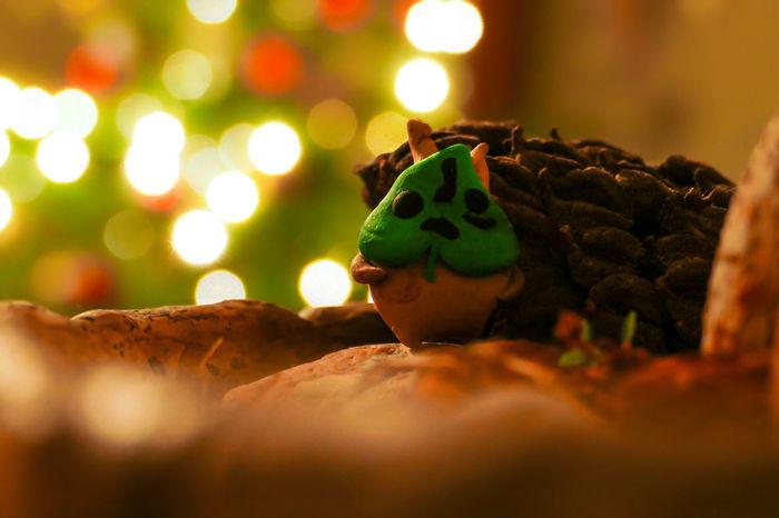 Christmas at the Korok's Christmas Christmas Lights Light Lightography Lights Christmas Decoration Christmas Tree Green Color Night No People Sculpture Selective Focus Zelda