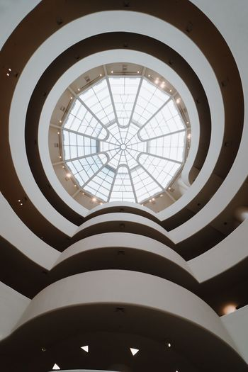 Architecture Built Structure Low Angle View Indoors  Ceiling Architectural Feature Skylight Building No People Sunlight Day Glass - Material Dome Geometric Shape Directly Below Shape Pattern Circle Modern Architecture And Art