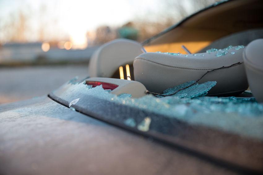 Abandoned Back Of Car Broken Down Broken Down Car Broken Windshield Car Close-up Cracked Vandalism Vandalized Windshield