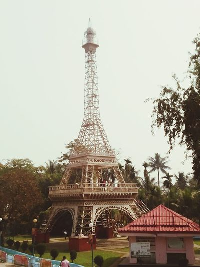 The model of Eiffel Tower at the Nicco park. Kolkata. Amusementpark Amusement Parks Kolkatacity Tower