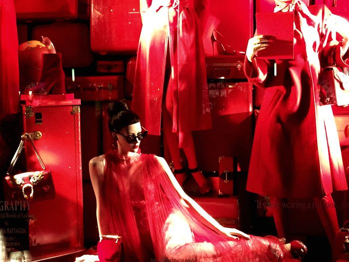 Red Bergdorf Goodman NY City Fashion Stories Fashion Stories