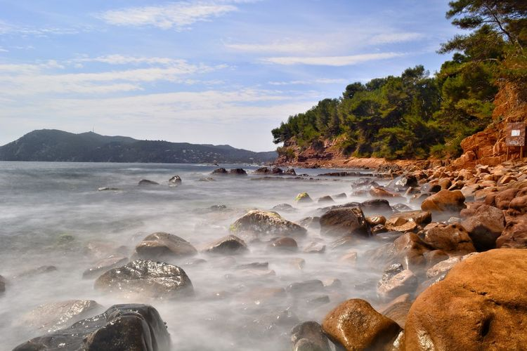 Landscape_Collection Seascape Landscape_captures Landscape_photography Water Wave Sea Beach Sunset Sand Tree Rock - Object Sky Landscape