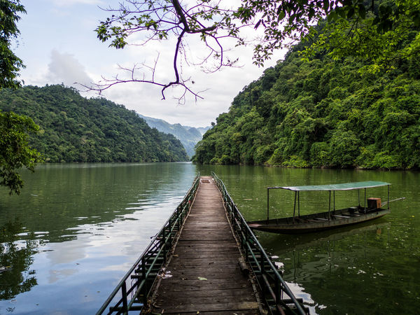 Ba Bé Lake Beauty In Nature Day Green Color Growth Jetty Lake Nature No People Outdoors Scenics Sky Tranquil Scene Tranquility Tree Water