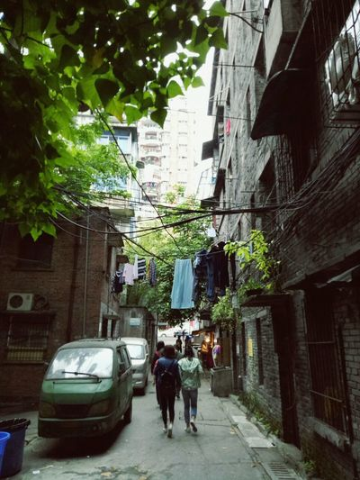 Built Structure Architecture Building Exterior City Tree Alley Men Real People Day Outdoors Police Force Adult People Adults Only