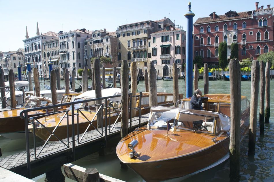 Architecture Blue Boats Boats And Water Canal Venetian Venice Venice, Italy Vintage Boat Water