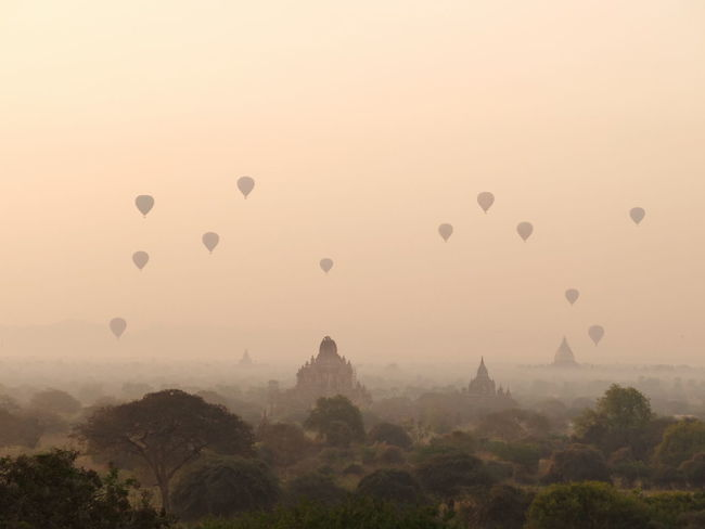 Breathtaking sunrise view overlooking the ancient temples of Old Bagan. #Bagan In #Myanmar #sunset #sun #clouds #skylovers #sky #nature #beautifulinnature #naturalbeauty #photography #landscape #travel #travelphotography Ancient Civilization Architecture Cultures Hot Air Balloon Place Of Worship Religion Travel Destinations EyeEmNewHere Sunrise Sunrise_Collection Neighborhood Map The Great Outdoors - 2017 EyeEm Awards