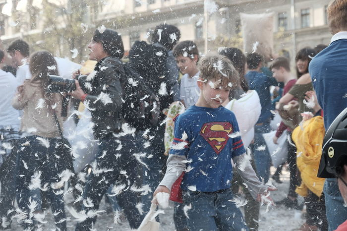 International Pillow Fight Day 2017 in Bucharest, Romania. April 1st in cities around the World. Bucharest City City Life Day Editorial  Entertainment Fight Fighting Fun Funny Funny Moments Happy Happy People International Party Party Time People Pillow Show Sunny Sunny Day Sunnyday