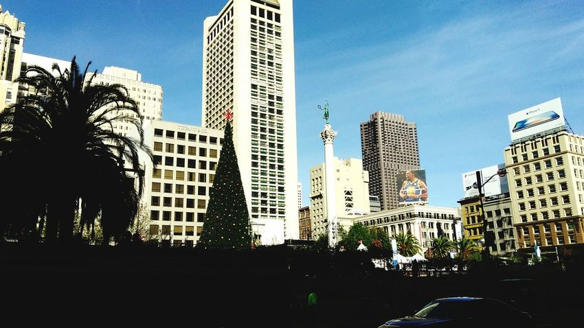 Urban Skyline Tree City San Francisco Unionsquare Christmas Tree Cityscape Norcal Cali Life Smartphone Photographer Smartphone Photography