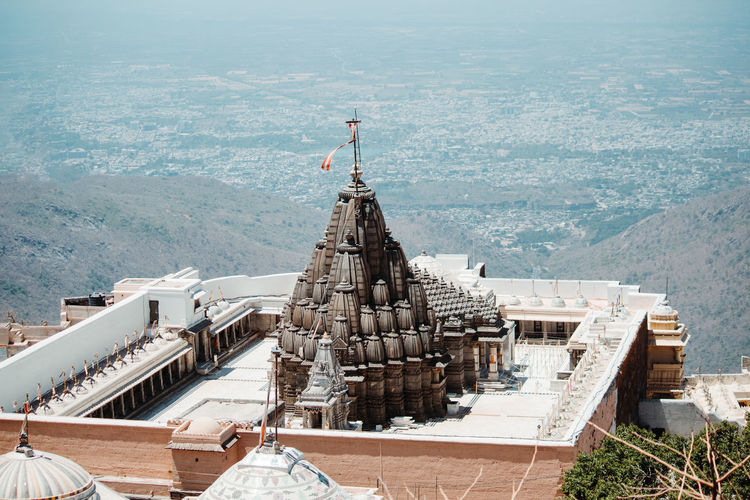 Architecture Built Structure Building Exterior High Angle View Day Building Mountain Religion Nature Place Of Worship Belief Travel Destinations City Spirituality Travel Outdoors The Past Roof Full Length Spire  Temple