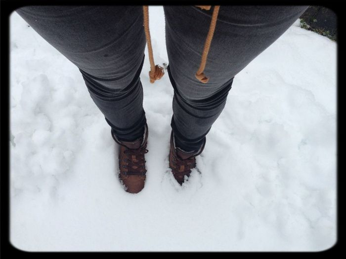 Stepping In Snow