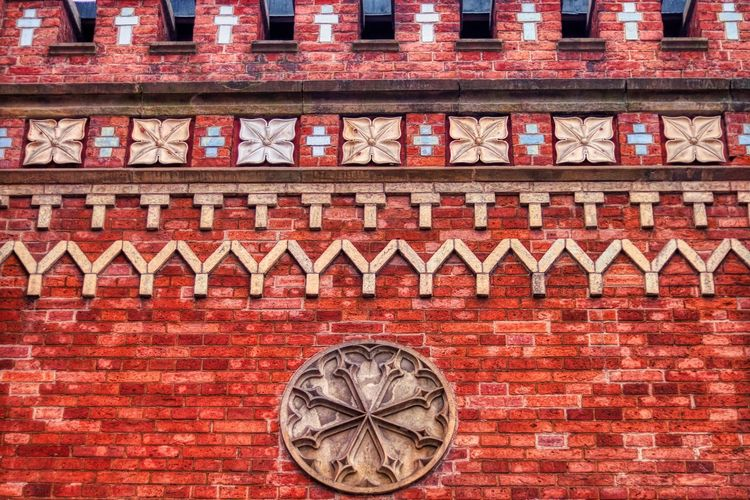 Close-up of brick wall of building