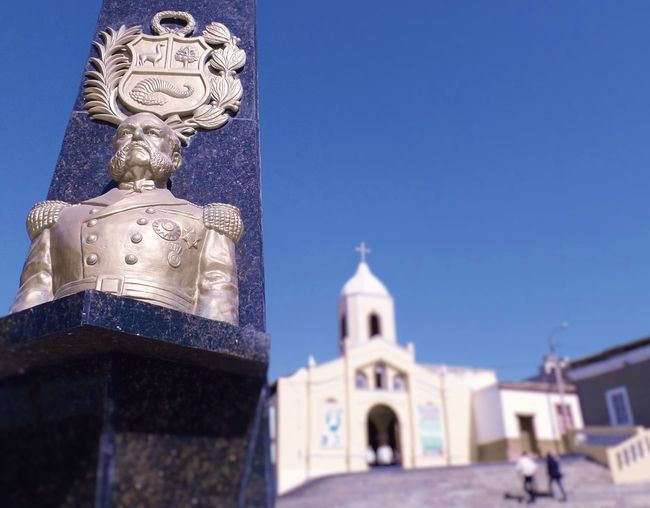 Architecture Church Escudo History Héroe Marino Miguel Grau Monument Peru Place Of Worship Religion Shield Tourism