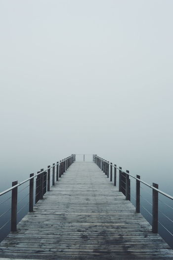 view Foodprint Foodsteps Fog Water Sea Fog Beach Sky Horizon Over Water Pier Underneath Railing Foggy Weather Extreme Weather Going Remote The Still Life Photographer - 2018 EyeEm Awards The Great Outdoors - 2018 EyeEm Awards