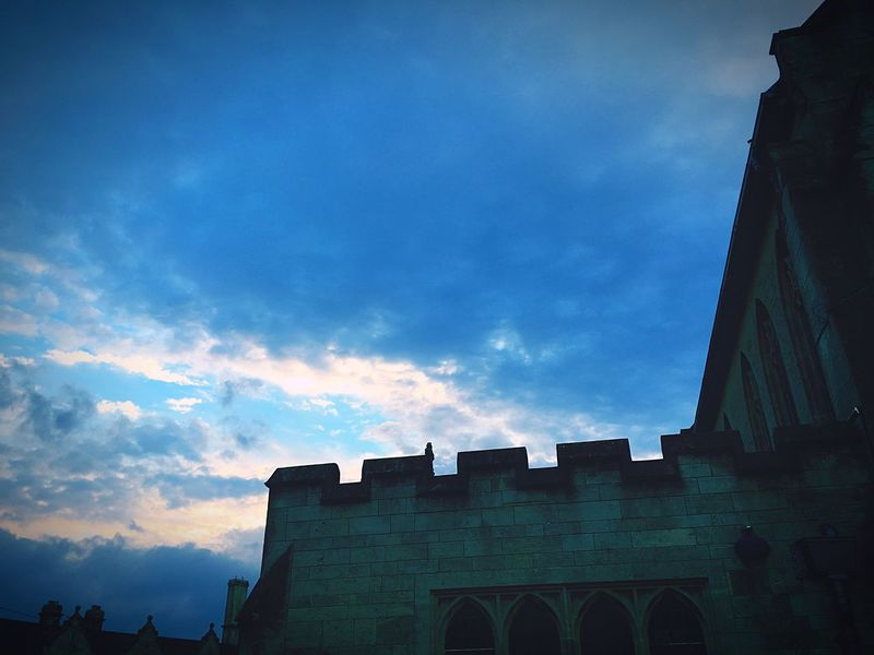 Building Exterior Built Structure Architecture Sky Low Angle View Cloud - Sky Outdoors No People Day Autumnal Sunset Church Life Faith Surprise Church