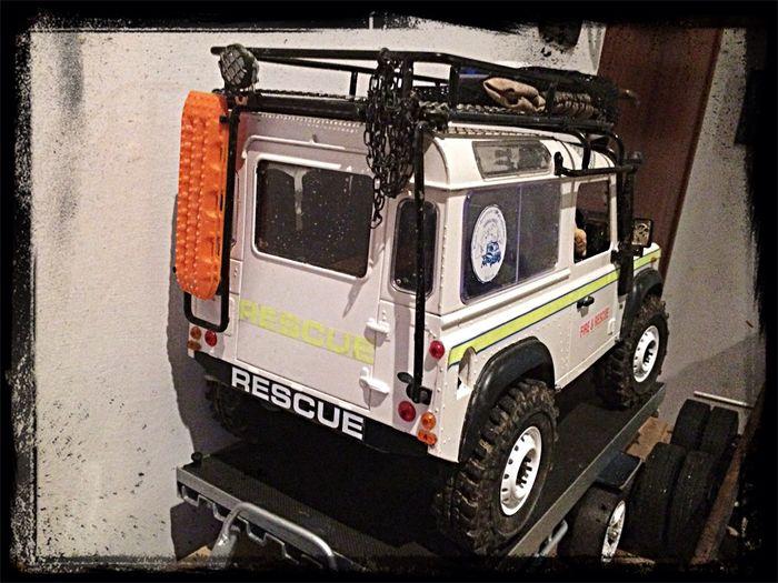 Rescue Fire Defender Custom #scx10 #axial