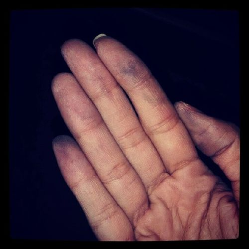 Olha a mão da mocinha.... PedalPraPoucos