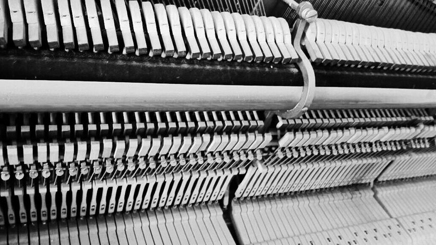 Manufacturing Equipment Technology Repetition In A Row Pattern Close-up