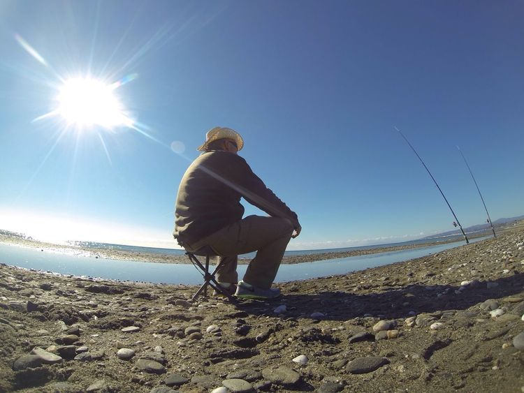 New year day in the sun. Wintertime in the CostadelSol with a Fishing Guy