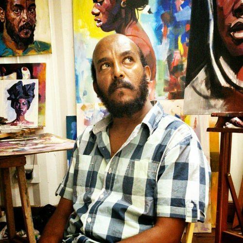 Ermias, an Ethiopian visual artist at Kuona Trust - where I'm based Portrait Xperiap KuonaTrust Nairobi