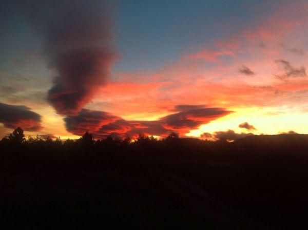 Hot Clouds Sunset