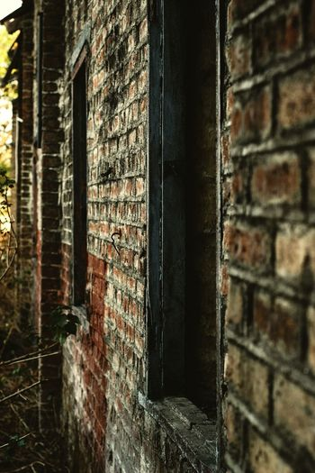 Window Architecture Close-up Built Structure Building Exterior Brick Wall Weathered Deterioration Rusty Ruined Brick Abandoned Historic Door Closed Door EyeEmNewHere