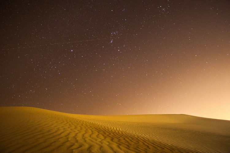 Beauty In Nature Clear Sky Dark Landscape No People Sand Dune Star Star - Space First Eyeem Photo