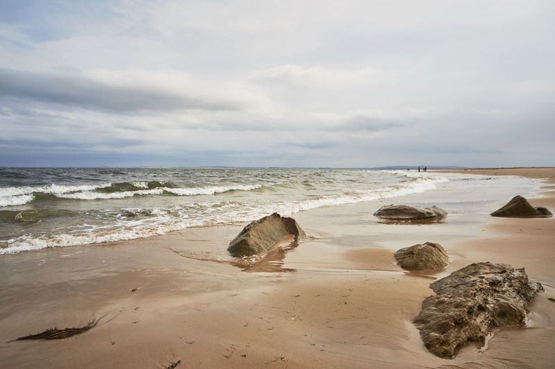 Water Beach Land Sea Sky Horizon Horizon Over Water Beauty In Nature Scenics - Nature Sand Cloud - Sky Tranquil Scene Rock Tranquility Motion Wave Rock - Object Nature Solid No People Outdoors Highlands Scotland Scottish Details Nature Wonderful Colors Orkneys