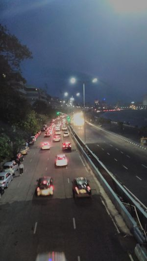 Architecture Built Structure Car City City Life High Angle View Highway Illuminated Land Vehicle Mode Of Transport Mumbai Night On The Move Road Road Marking Sky Street Street Light The Way Forward Traffic Transportation Victoria Necklace