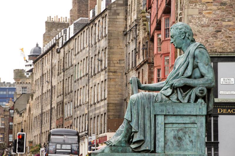 Statue Sculpture Architecture Building Exterior Art City No People Edinburgh Royal Mile Built Structure Outdoors